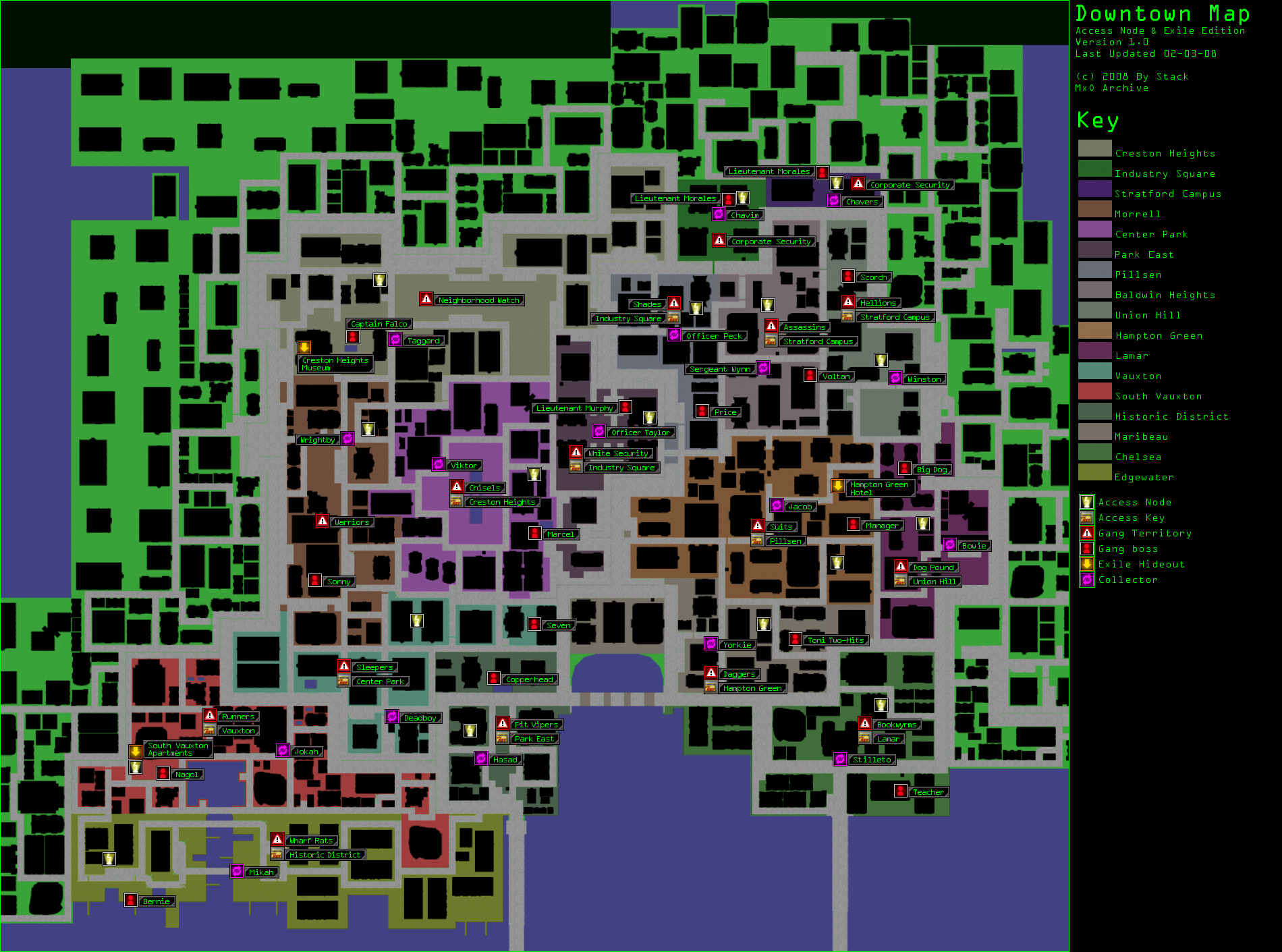mxo archive downtown access node exile map